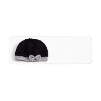 Knitted hat | return address label