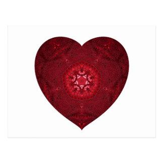 Knitted Heart Feb 2013 Postcard