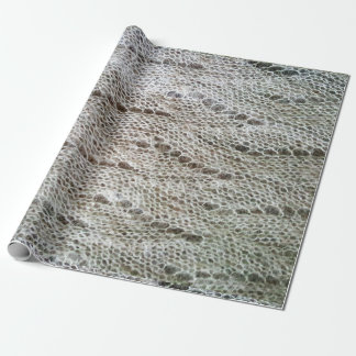 Knitted laced pattern wrapping paper