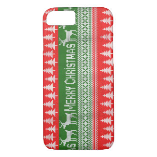 """Knitted """"Merry Christmas"""" pattern iPhone 7 Case"""