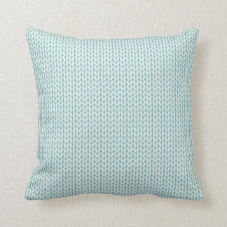 Knitted pattern throw pillow