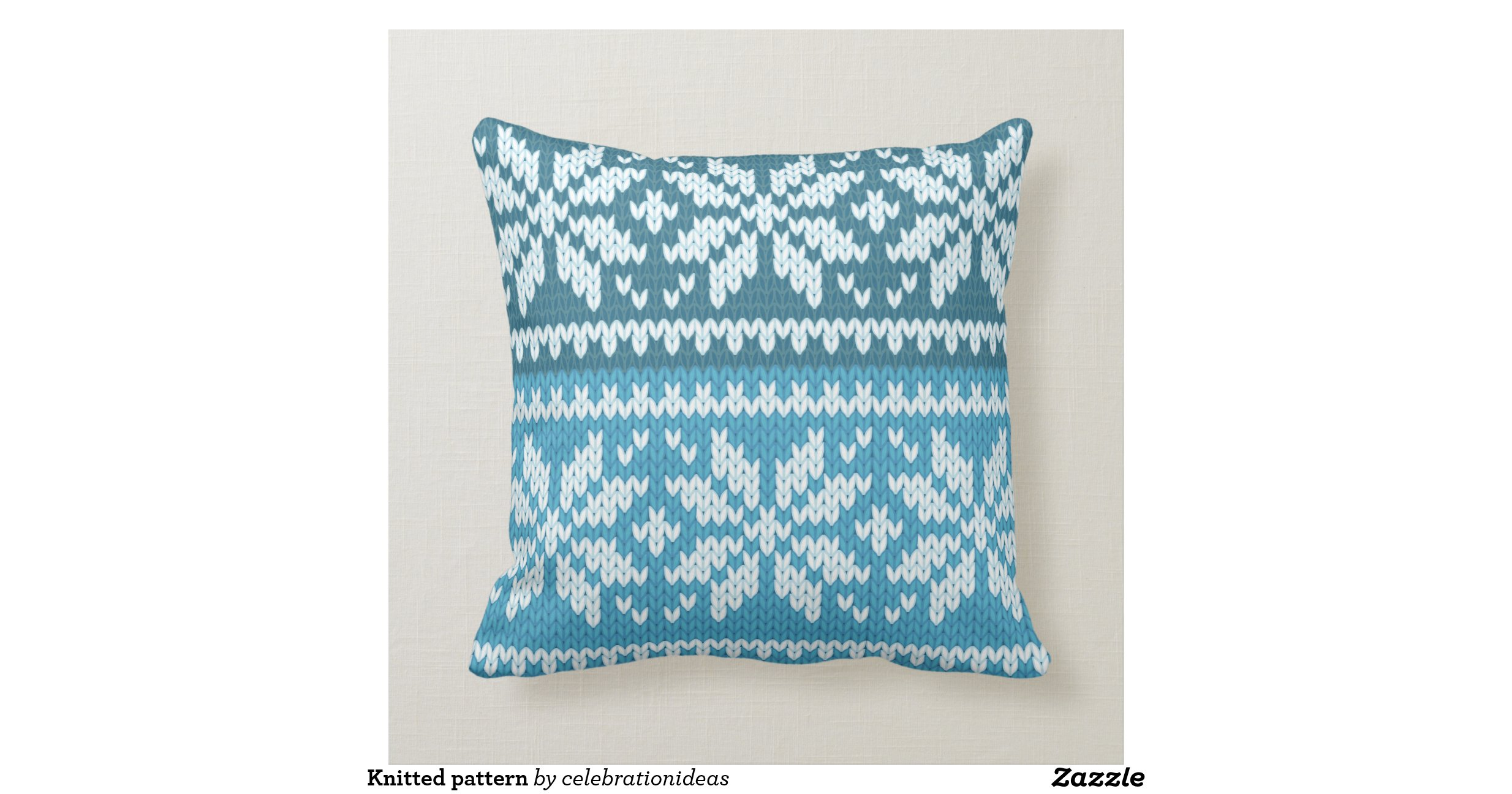 Knitted pattern throw pillow Zazzle
