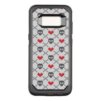 Knitted pattern with skulls OtterBox commuter samsung galaxy s8 case