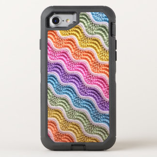 Knitted Rainbow Pattern OtterBox Defender iPhone 8/7 Case