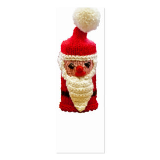Knitted santa claus business card templates