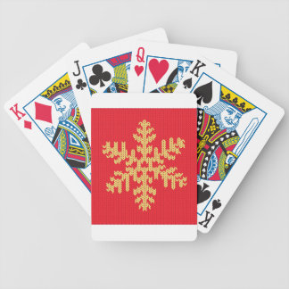 Knitted Snowflake Pattern Bicycle Playing Cards