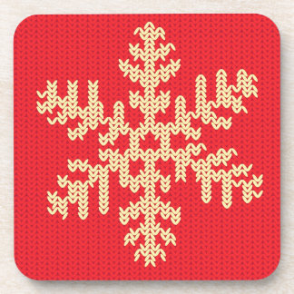 Knitted Snowflake Pattern Coasters