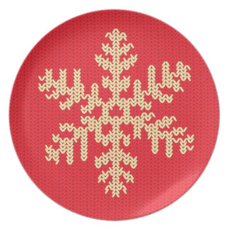 Knitted Snowflake Pattern Plate