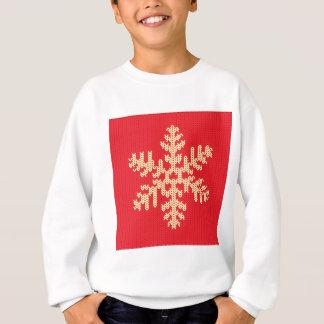 Knitted Snowflake Pattern Sweatshirt