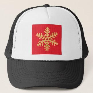 Knitted Snowflake Pattern Trucker Hat