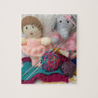 Knitted Toys and Knitting Puzzle