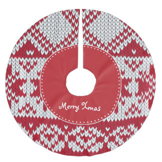 Knitted Xmas Brushed Polyester Tree Skirt