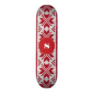 Knitted Xmas Skateboard Deck