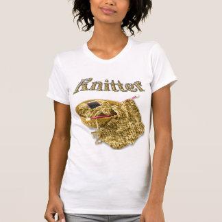 Knitter - Hand Knit Tan Chenille Yarn Tee Shirts