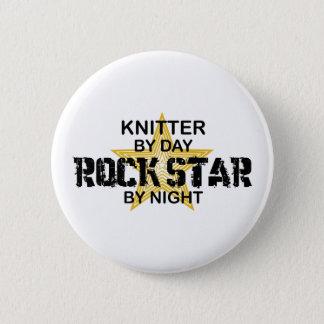 Knitter Rock Star by Night 2 Inch Round Button