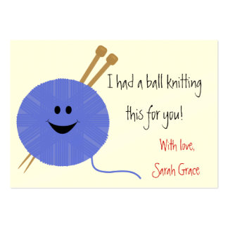 Knitter s Hang Tag Business Card Template