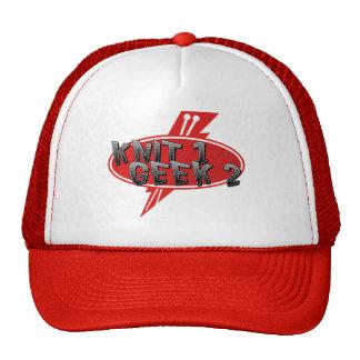 Knitter under the hat! trucker hat