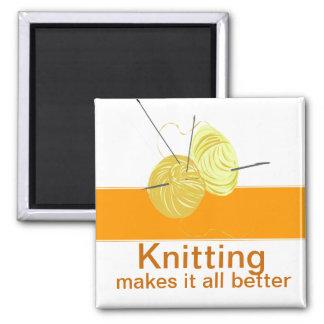 Knitter Yarn'n Needles Magnet