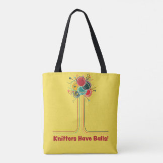 Knitters Have Balls Funny Knitting Project Bag