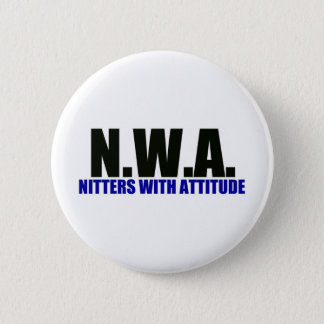 Knitters With Attitude 2 Inch Round Button