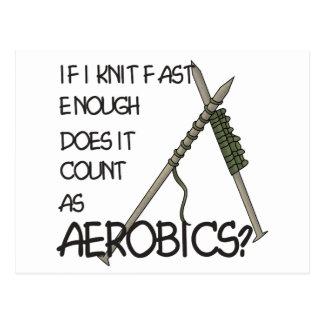 Knitting Aerobics Postcard