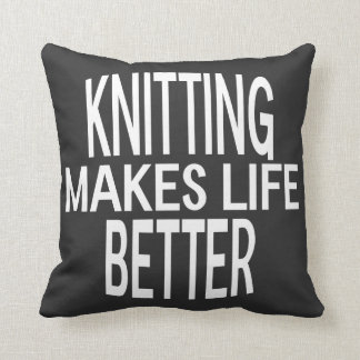 Knitting Better Pillow - Assorted Styles & Colors