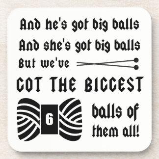 Knitting • Big Balls of Yarn Crafts Coaster