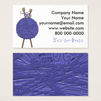 Knitting Business Business Card