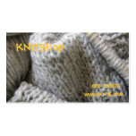 Knitting/ Double-Sided Standard Business Cards (Pack Of 100)