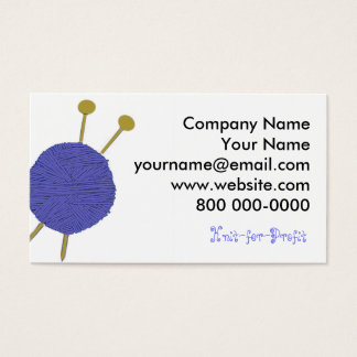 KNITTING BUSINESS CARD