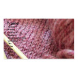 Knitting/ Business Card Template