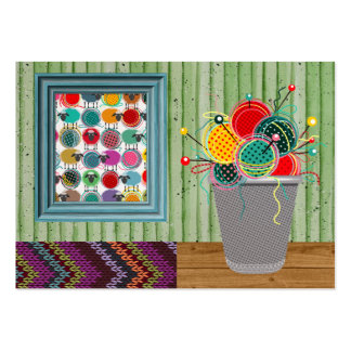 Knitting Business Version - SRF Large Business Card