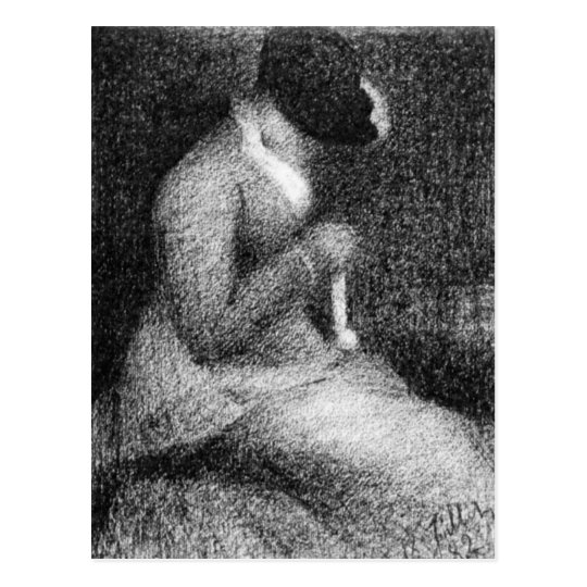 Knitting by Georges Seurat Postcard