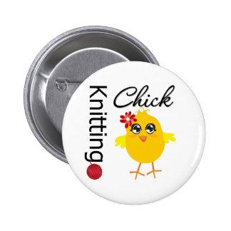 Knitting Chick 2 Pins