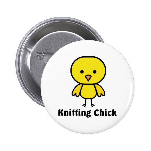 Knitting Chick Buttons