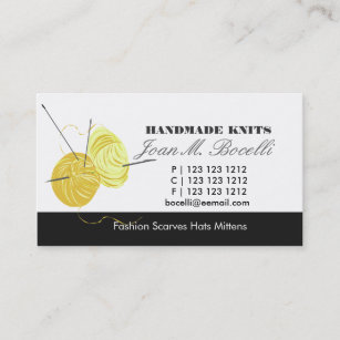 Knitting business cards business card printing zazzle ca knitting craft artist business card colourmoves