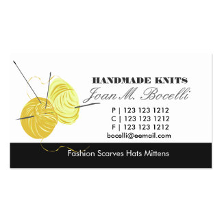 Knitting Craft Artist Pack Of Standard Business Cards