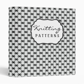 Knitting Pattern Binder : Craft Binders, Custom Craft Binder Designs, 3 Ring Binders