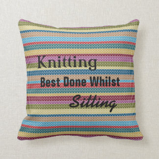 Knitting cushion