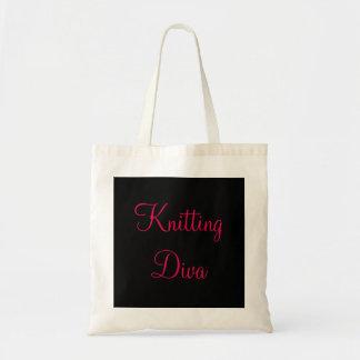 Knitting Diva Tote Bag