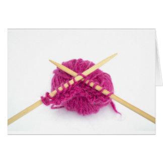 knitting fanatic card