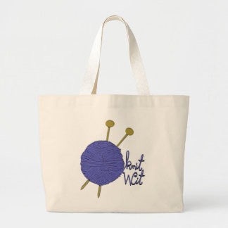 knitting gift ideas large tote bag
