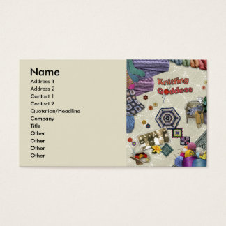 Knitting Goddess Business Card