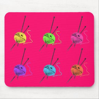 Knitting Goes POP! Mouse Pad