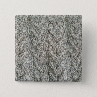 Knitting grey pattern 2 inch square button