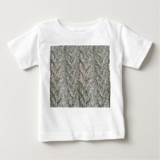Knitting grey pattern baby T-Shirt