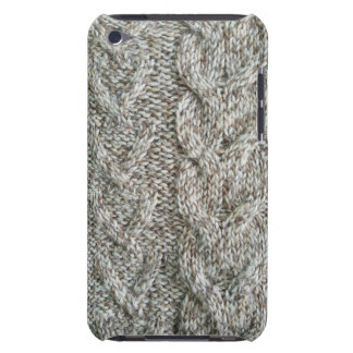 Knitting grey pattern iPod touch cases