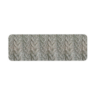 Knitting grey pattern return address label