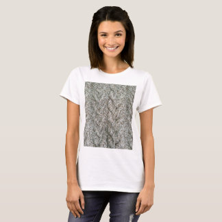 Knitting grey pattern T-Shirt