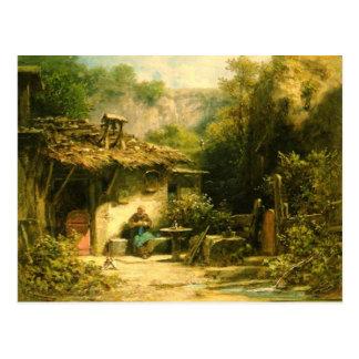 Knitting Hermit - Spitzweg Postcard